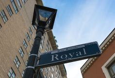 Rue Royal street sign in New Orleans, Louisiana Stock Photos