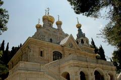 Rue russe Maria Magdalena d'église orthodoxe Photos libres de droits
