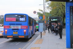 Rue Séoul Corée du Sud de Gangnam Photo stock