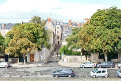 Rue Saint-Aignan street in Angers, France Royalty Free Stock Photography