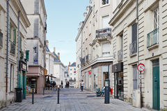 Rue Saint Martin street in Angers, France Stock Photo