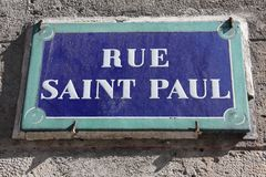 Rue Saint Paul imagen de archivo