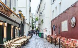 Rue Saint Rustique. Montmartre Royalty Free Stock Photo