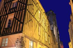 Rue Saint-Sauver, La Rochelle ( France ) Royalty Free Stock Images
