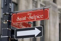 Rue Saint-Sulpice street sign Stock Image
