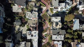 Rue San Francisco Etats-Unis de Lombard photographie stock libre de droits