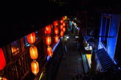 Rue silencieuse à la ville antique de Fenghuang Images stock