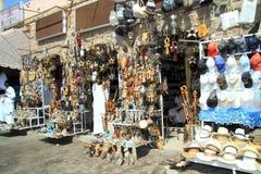 Rue sociable de bazar de l'Egypte Image stock
