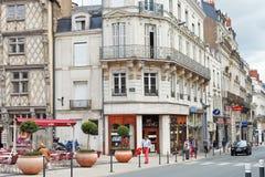 Rue St Aubin-Straße verärgert herein, Frankreich Lizenzfreie Stockfotos