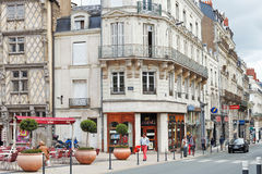 Rue St Aubin street in Angers, France Royalty Free Stock Photos