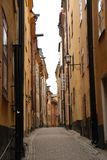 Rue stan de Gamla Photo stock