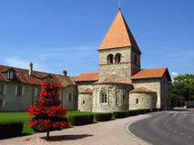 Rue-Sulpice église 02, Lausanne, Suisse Images stock