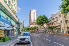 Rue Tel Aviv de Ben Yehuda Images stock