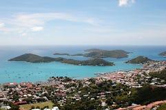 rue Thomas d'îles des Caraïbes Images libres de droits