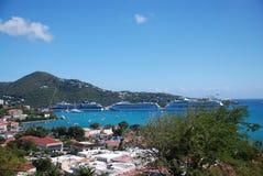 Rue Thomas ; Les Îles Vierges Photographie stock