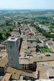 rue Toscane de l'Italie de gimignano Photos libres de droits