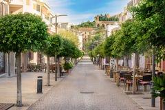Rue très intéressante à Arta, Majorque Photo stock