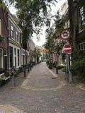 Rue tranquille à Haarlem Photo libre de droits