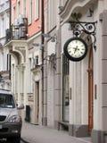 Rue tranquille à Riga Images libres de droits