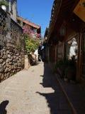 rue tranquille dans Lijiang image stock