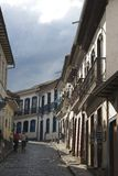 Rue tranquille, Ouro Preto images stock