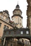 Rue étroite à Dresde Image libre de droits