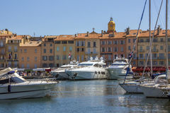 Rue Tropez - sud de la France photographie stock