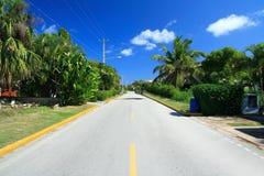 Rue tropicale dans la résidence image stock