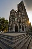 rue Vietnam de Joseph s d'inhanoi de cathédrale Photographie stock libre de droits