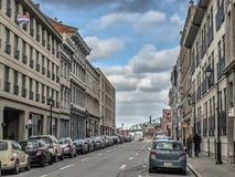 Rue vieux Montréal de Notre-Dame image stock
