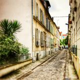 Rue in Vincennes. A quiet street in Vincennes , France Royalty Free Stock Images