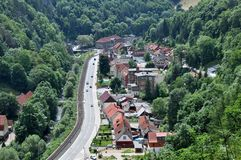 Ruebeland, Harz, Germany, Europe. Ruebeland is a village in the collective municipality of Elbingerode in the district of Harz in the German state of Saxony Royalty Free Stock Image