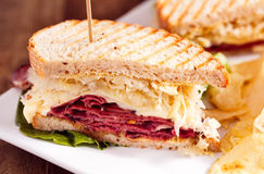 Rueben Sandwich Royalty Free Stock Images