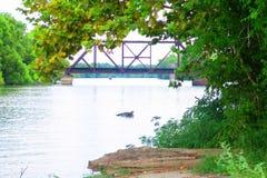Rueda abajo del río Imagen de archivo
