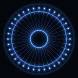Rueda azul abstracta imagen de archivo