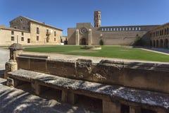 Rueda cistercian monastery. Interior of Rueda cistercian monastery, XIII century, Zaragoza, Aragon Stock Images