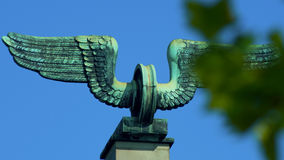 Rueda coa alas - railwaymen de una muestra Imagen de archivo libre de regalías