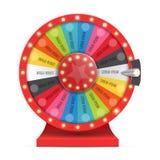 Rueda colorida de la suerte o de la fortuna infographic Vector Imágenes de archivo libres de regalías