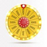 Rueda colorida de la suerte o de la fortuna infographic Vector Fotos de archivo