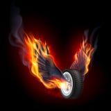 Rueda con las alas del fuego libre illustration