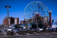 Rueda Coney Island de la maravilla Imagen de archivo libre de regalías