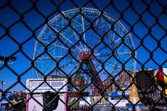Rueda Coney Island de la maravilla Foto de archivo libre de regalías