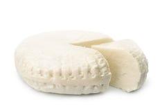 Rueda curada en salmuera fresca del queso foto de archivo