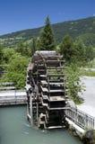 Rueda de agua antigua Foto de archivo libre de regalías