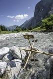 Rueda de agua simple Imagen de archivo libre de regalías