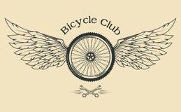 Rueda de bicicleta con las plumas Fotos de archivo libres de regalías
