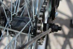 Rueda de bicicleta con los detalles, primer Imagen de archivo libre de regalías
