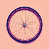 Rueda de bicicleta de la foto del inconformista del vintage Fotografía de archivo