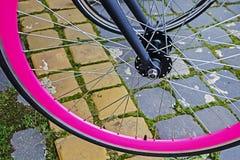 Rueda de bicicleta. Detalle 8 fotografía de archivo
