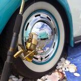 Rueda de coche de Volkswagen Beetle Imagen de archivo libre de regalías